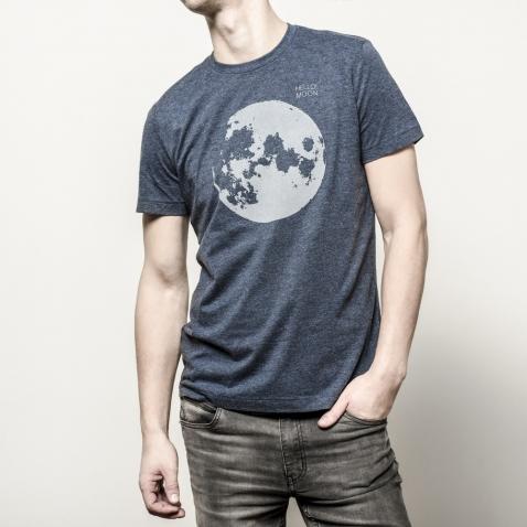 HELLO!MOON Marškinėliai su atšvaitu vyriški