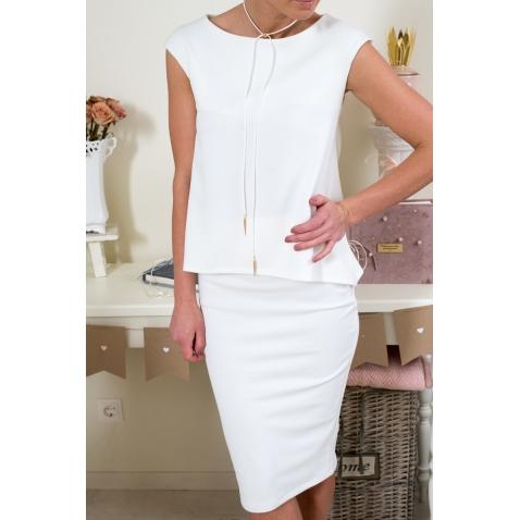 Prašmatnus baltas sijonas