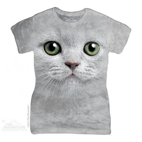 Moteriški Marškinėliai Žaliaakis katinas