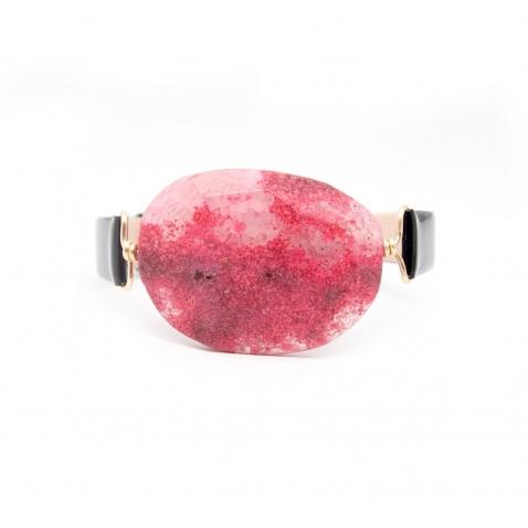Apyrankė su rožiniu agatu