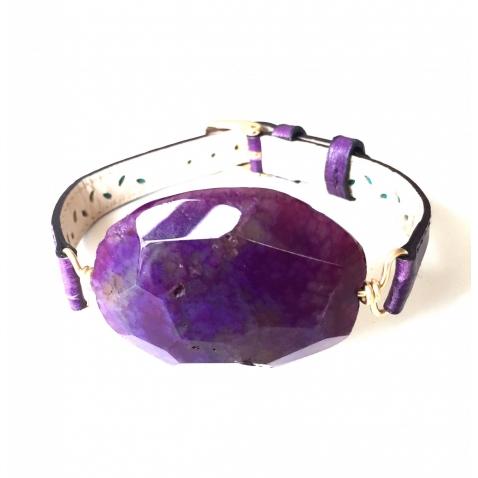 Apyrankė su violetiniu agatu