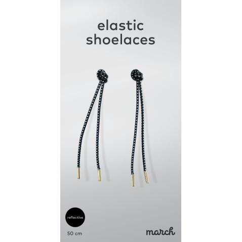 Reflective Tie-free elastic shoelaces