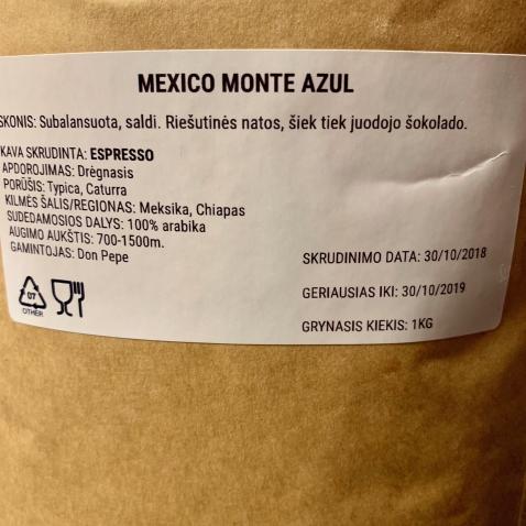 Šviežio skrudinimo kava MEXICO