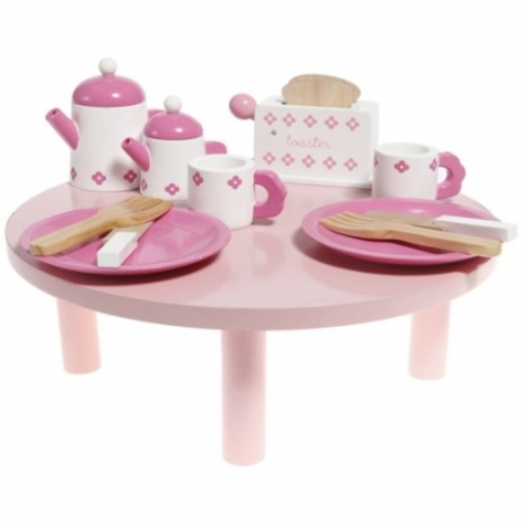 Wooden set Tea and Tost