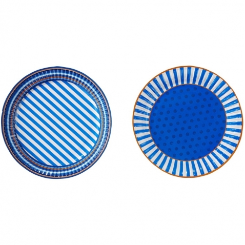 Blue Party Plates, 8pcs.
