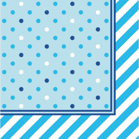 Blue Napkins with dots
