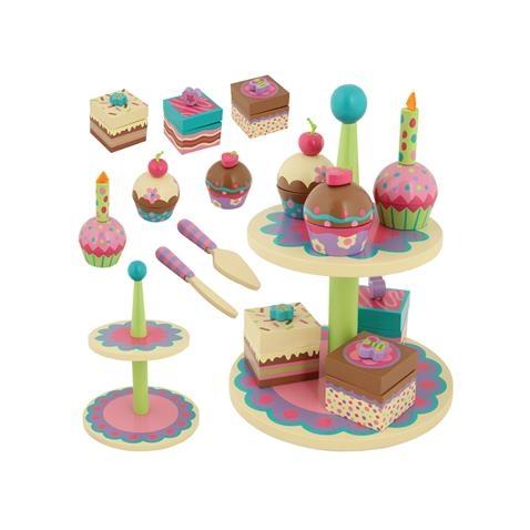 Wooden Cupcake Sweet Set