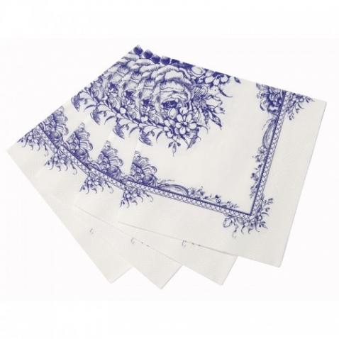 Popierinės servetėlės Party Porcelain Blue