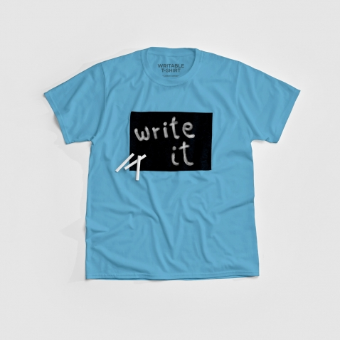 Cotton Twitter marškinėliai Turquoise
