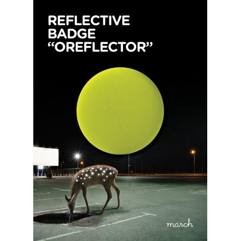 Atšvaitas Oreflector Neon Yellow